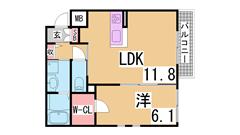 ペットOKの駅近オートロック・システムキッチン・浴室乾燥付マンション^^ 201の間取