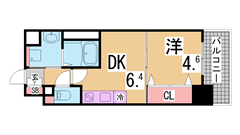 インターネット無料^^駅からすぐ^^オートロック・システムキッチン・浴室乾燥^^ 302の間取