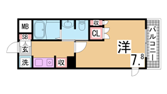 オール電化・システムキッチン(IH2口)・シャンプードレッサー等設備充実^^ 205の間取