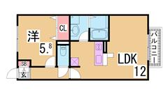 カウンターキッチン^^システムキッチン・浴室乾燥付^^駐車場有り^^ C201の間取