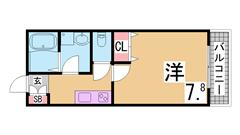ネット無料 神戸大学医学部すぐ セパレート 24H営業のスーパーも近く便利 203の間取