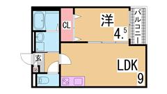 敷金礼金0円 インターネット無料 システムキッチン 追焚 浴室乾燥等設備充実 201の間取