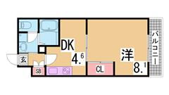 岡場駅まですぐの築浅ハイツ^^追焚・シャンプードレッサー・浴室乾燥付^^ 102の間取