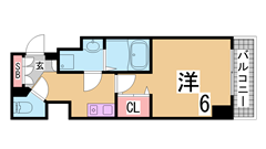 人気の追焚き付機能付きマンション^^二口システムキッチン・浴室乾燥^^ 201の間取