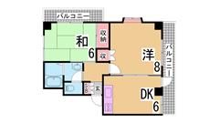 床暖房・浴室TV・ミストサウナ・ホームセキュリティ等設備充実^^ 703の間取