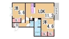 ペットOKの人気のシャーメゾン^^エコジョーズ・高遮音床シャイド55採用^^ 102の間取