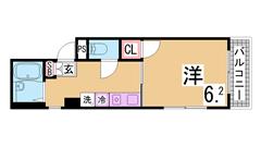 エレベーター・システムキッチン・室内美麗^^小学校すぐ^^ 301の間取