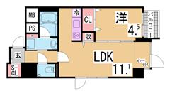 賃料シングルタイプなみのファミリータイプ^^室内きれいに改装済み^^ 202の間取