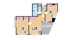 オートロック付の築浅マンション^^谷上駅まで坂道なし^^ 307の間取