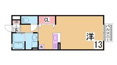 オートロック・システムキッチン付の築浅ハイツ 浴室乾燥もついてます B105の間取
