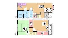 本山第二小・本山南中学校・コンビニ・スーパー歩いてすぐ^^室内も改装済み^^ 1の間取