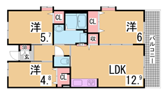 フレール兵庫浜崎通 27-201の間取