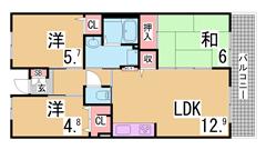 フレール兵庫浜崎通 27-203の間取