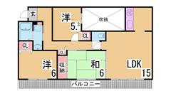 室内大改装^^広々リビング システムキッチン^^日当たりや眺望良好です^^ 112の間取