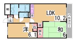 人気の会下山小学校区^^オートロック・エレベーター付の人気のマンション^^ 701の間取