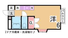 大手ハウスメーカー施工の1LDK 充実の設備 お風呂1坪  101の間取