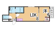ペットOK・駐車場代1台込・システムキッチン・追焚・ウォークインクローゼット E102の間取