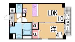 インターネット無料^^ペット飼育可^^全室角部屋設計^^ 205の間取