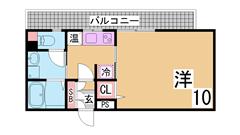 三点セパレート・オール電化・浴室乾燥・システムキッチン付 407の間取