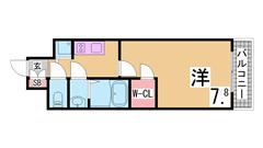 追焚機能付の築浅マンション^^カウンターキッチン・室内広々^^ 302の間取