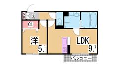 駐車場1台無料^^保証人不要^^システムキッチン・広い室内^^ B103の間取