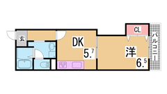 家具レンタル可能 オートロック シャンプードレッサー エレベーター エアコン 304の間取