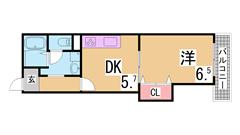 ガスコンロ・洗濯機・冷蔵庫・照明器具有り 人気のSRC造のマンションです 303の間取