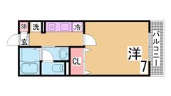 敷金0円^^オートロック・システムキッチン・コンビニ・スーパーすぐ^^ 206の間取