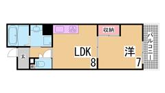 募集家賃は神戸市の最大の家賃補助制度を適用しています 礼金・仲介手数料も不要 201の間取