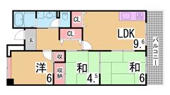 募集家賃は神戸市の最大の家賃補助制度を適用しています 礼金・仲介手数料も不要 209の間取