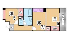 募集家賃は神戸市の最大の家賃補助制度を適用しています 礼金・仲介手数料も不要 414の間取