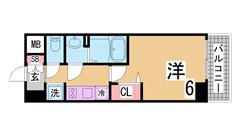 インターネット無料^^大手ハウスメーカー施工の築浅マンション^^ 1401の間取