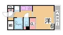 オートロック システムキッチン(3口) 冷蔵庫・洗濯機付 310の間取