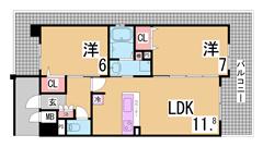 阪神高速インターおりてすぐの築浅ハイツ^^岡場・有馬温泉も車ですぐ^^ 102の間取