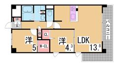 K-court兵庫 201の間取