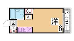 当社からすぐの人気駅近築浅マンション^^オール電化・オートロック付^^ 305の間取