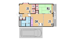 駐車場賃料に1台込み^^室内美麗^^お客様目線の初期費用^^閑静な地域です^^ 106の間取