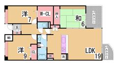 人気の西神中央徒歩圏の広々ファミリータイプ^^広いリビングシステムキッチン^^ 104の間取