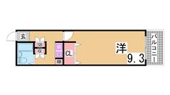 西神中央駅すぐの広々1K^^生活便利^^案内は現地待ち合わせ可^^ 308の間取