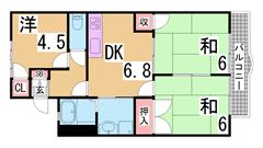 小・中学校・駅徒歩圏の閑静な住宅街 駐車場代1台込み  A101の間取