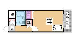 人気のお手頃分譲賃貸^^コインランドリー・オートロック・エレベーター有り^^ 6Fの間取