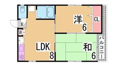 人気の神戸駅近^^人気の振り分けの物件^^大型クローゼット^^ 201の間取