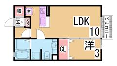 オートロック・システムキッチン・宅配BOX付の人気分譲賃貸シリーズ^^ 202の間取