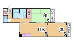 3点セパレート エレベーター 南向き 大型CL ウォシュレット TVモニター^^ 404の間取