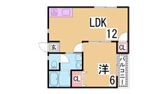 大手ハウスメーカー施工の充実設備の室内^^駅近で商業施設も豊富^^ 201の間取