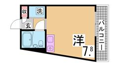 敷・礼0円^^生活便利な駅近^^うれしいエアコン・照明付^^南向き日当良好^^ 502の間取