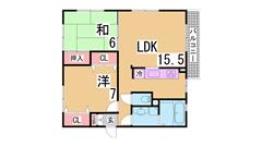 賃料に駐車場代1台込み^^谷上の中で人気の南町^^大手ハウスメーカー施工 201の間取
