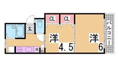 インターネット無料 オートロック・システムキッチン付大手ハウスメーカー施工 205の間取