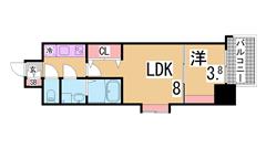インターネット無料^^ペット飼育可^^全室角部屋設計^^ 302の間取