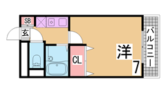 3DKをオール洋室の2LDKにフルリノベーション^^人気のお部屋です^^ 202の間取